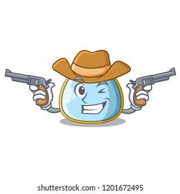 Cowboy character baby bib for feeding toddler