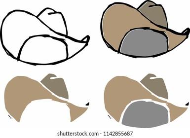 cowboy hat graphic design vector art