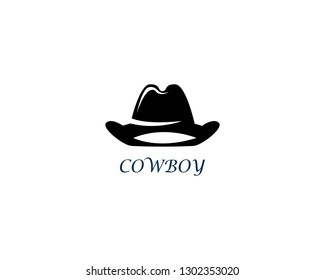 Cowboy hat logo template vector