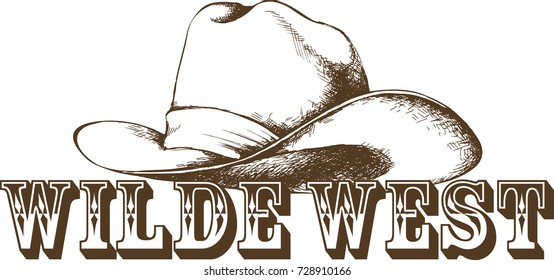 Cowboy hat. Vector illustration