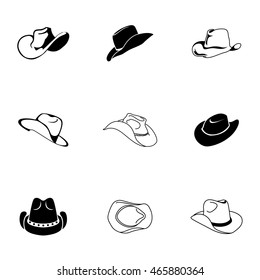 c9ab9834a80 Hat Vector Icons Simple Illustration Set Stock Vector (Royalty Free ...