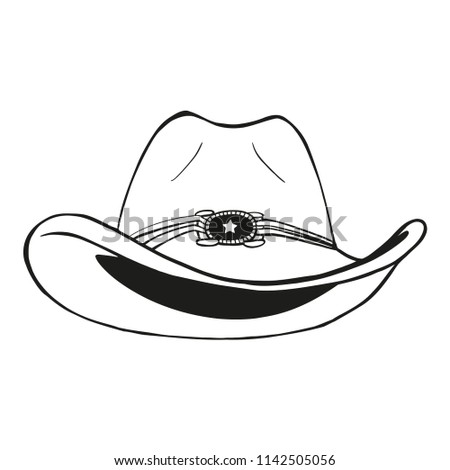 76cdffee Cowboy Hat Vintage Engraved Vector Illustration Stock Vector ...