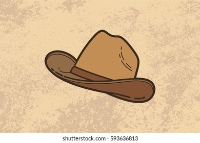 Cowboy Hat Vintage Vector