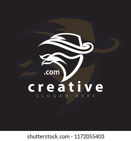 Cowboy head logo icon vector template