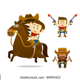 cowboy with horse collection