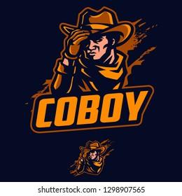 Cowboy mascot vector