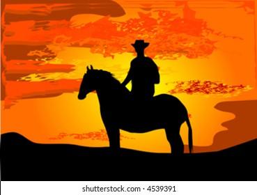 cowboy on hors