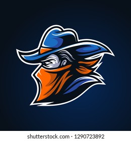 Cowboy Outlaw Head modern Sport