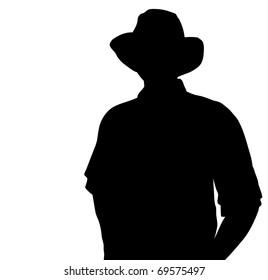 Cowboy silhouette. Vector