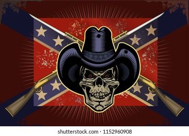 Cowboy Skull and Guns