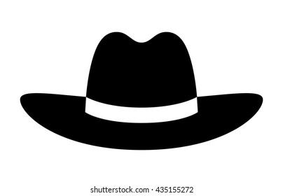 Cowboy / stetson hat flat vector icon for apps and websites