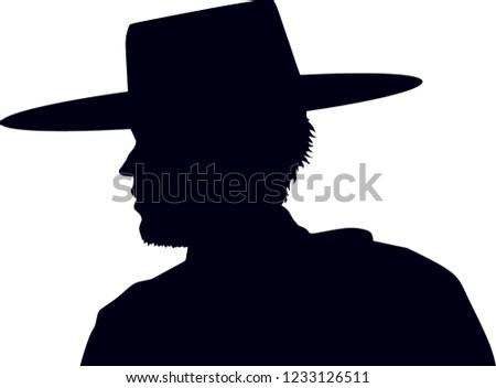 0dbcda45b7d Cowboy Vector Background Man Hatsilhouette Stock Vector (Royalty ...