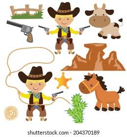 Cowboy vector illustration