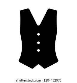 cowboy waistcoat icon, vector cowboy waistcoat silhouette, retro western cowboy waistcoat illustration
