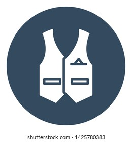Cowboy waistcoat Vector icon which can easily modify or edit