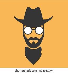 Cowboy's head