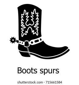 Cowgirl boot spurs icon. Simple illustration of cowgirl boot spurs vector icon for web