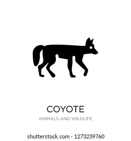 coyote icon vector on white background, coyote trendy filled icons from Animals and wildlife collection, coyote simple element illustration