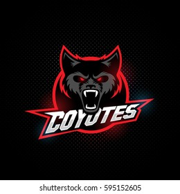 Coyote mascot for a sport team. Vector illustration.