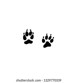coyote track icon vector. coyote track sign on white background. coyote track icon for web and app