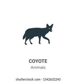 Coyote vector icon on white background. Flat vector coyote icon symbol sign from modern animals collection for mobile concept and web apps design.