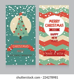 cozy christmas card with best wishes, vector illustration