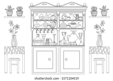 cozy kitchen cupboard vases flowers 260nw