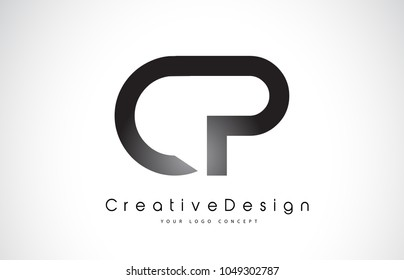 CP C P Letter Logo Design in Black Colors. Creative Modern Letters Vector Icon Logo Illustration.