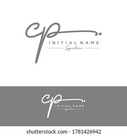 CP Initial letter handwriting and signature logo.
