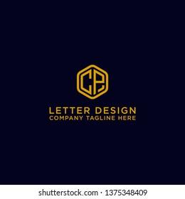 CP letters Initial icon / Monogram.- Vector inspiration logo design - Vector