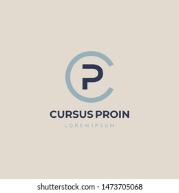 CP or PC. Monogram of Two letters C&P. Luxury, simple, minimal and elegant CP logo design. Vector illustration template.