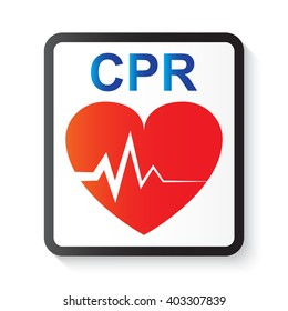 CPR (cardiopulmonary resuscitation), heart and ECG (Electrocardiogram) image for basic life support and advanced cardiac life support