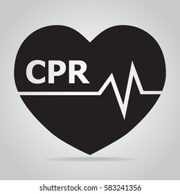 CPR, Cardiopulmonary resuscitation icon. Medical sign icon