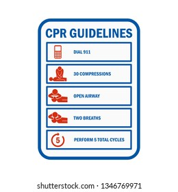 CPR Cardiopulmonary Resuscitation sign and symbol. vector illustration