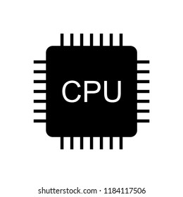 CPU icon simple flat vector icon.
