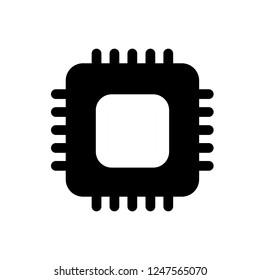 Cpu icon, vector illustration. Flat design style. vector cpu icon illustration isolated on white background, cpu icon Eps10. cpu icons graphic design vector symbols.