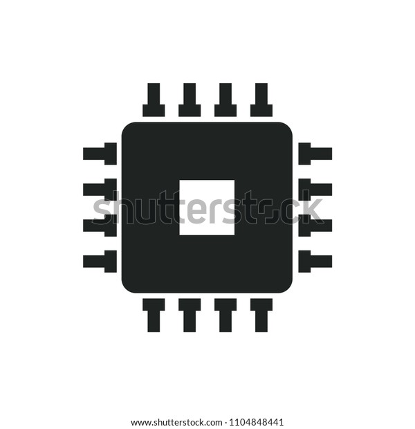 cpu vector icon stock vector royalty free 1104848441 shutterstock