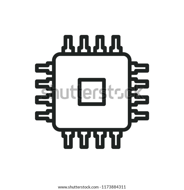 cpu vector icon stock vector royalty free 1173884311 shutterstock