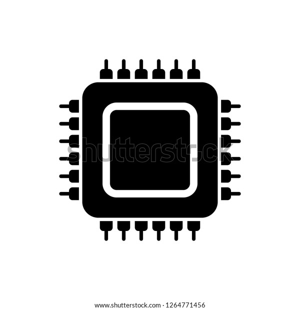 cpu vector icon stock vector royalty free 1264771456 https www shutterstock com image vector cpu vector icon 1264771456