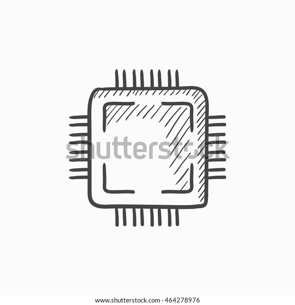 cpu vector sketch icon isolated on stock vector royalty free 464278976 https www shutterstock com image vector cpu vector sketch icon isolated on 464278976