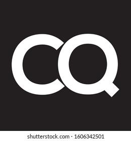 cq letter logo template vector
