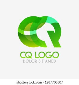 The CQ logo with striking colors and gradations, modern and simple for industrial, retail, business, corporate. this QC logo made for online and offline media both web, mobile, logo, brochure, flayer