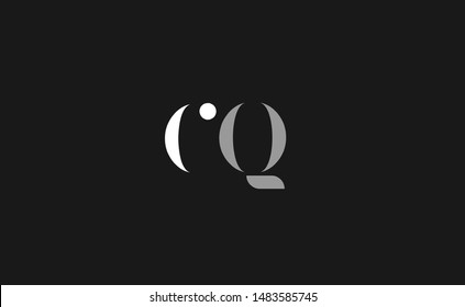 CQ, QC Letter Logo Design with Creative Modern Trendy Typography