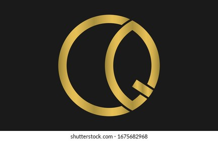 CQ, QC Letter Logo Design with Creative Modern Trendy Typography and monogram logo.