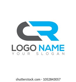 CR Letter Logo Design Template EPS File