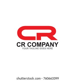 CR letter logo design vector template