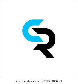 CR logo design vector sign
