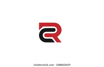 CR or RC C R abstract monogram lettermark logo vector template