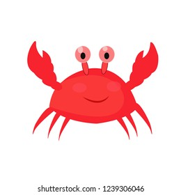 Crab cartoon icon. Illustration for web and mobile.
