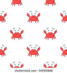 Crab cartoon icon. Illustration for web and mobile design.